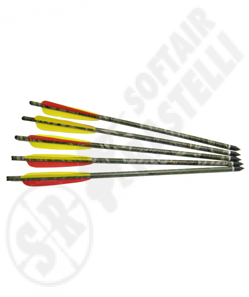 "5 arrows for crossbow 18""  mimetic color"
