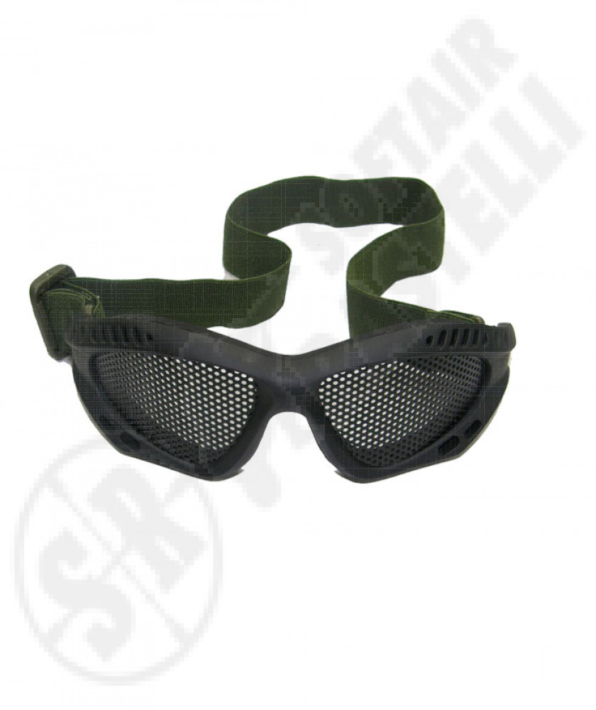 Tactical protective mesh goggles black