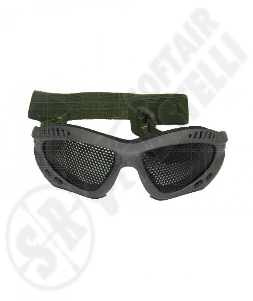 Tactical protective mesh goggles green