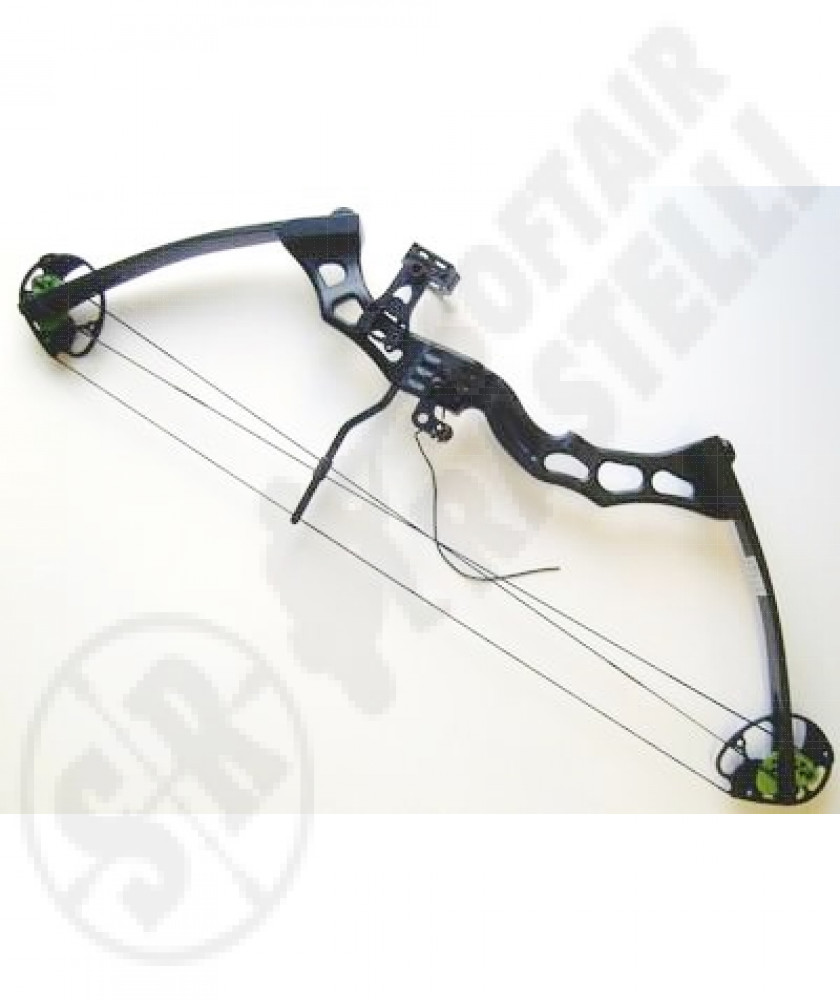 Compound bow  defender black 70 libre with pulley system