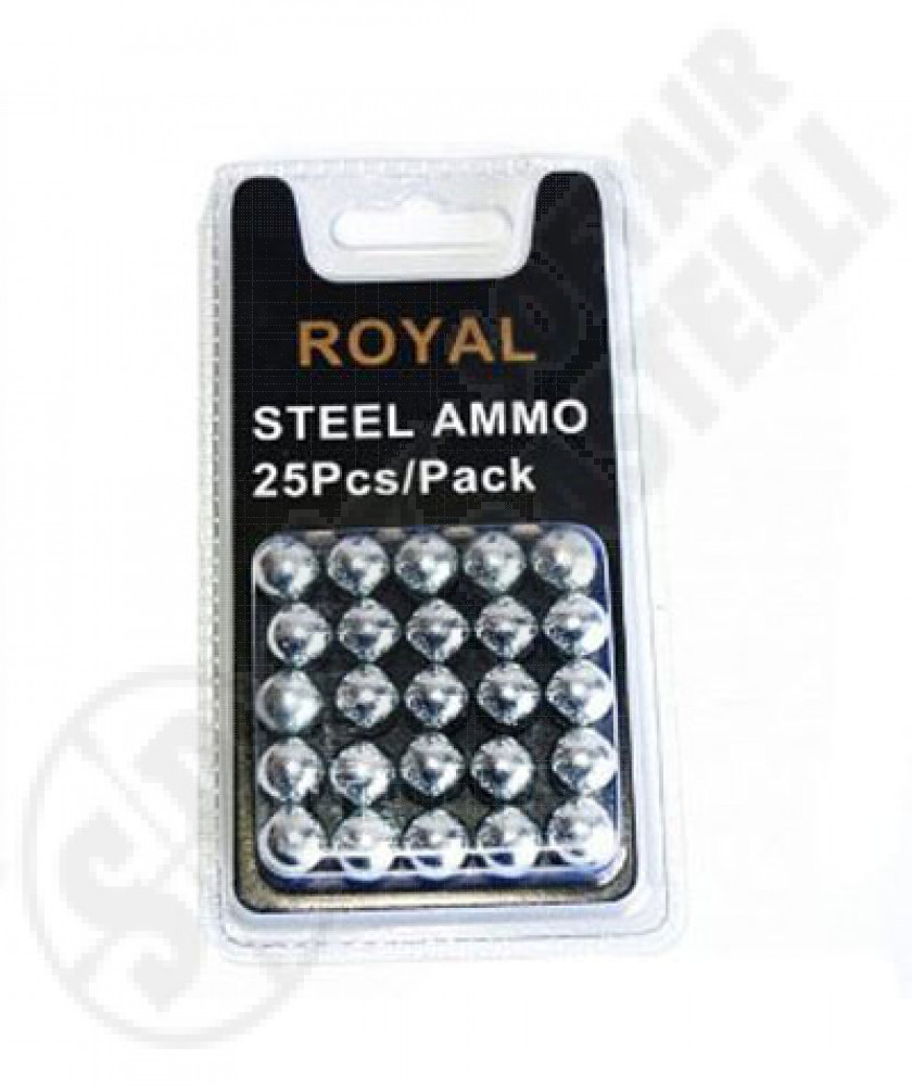 Box of 25 steel balls for slingshot royal