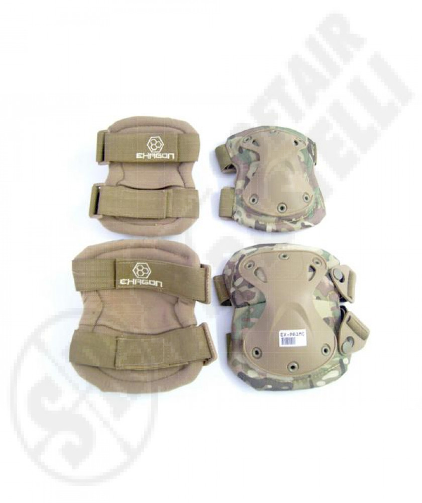 Elbow klee protection pads multicam exagon