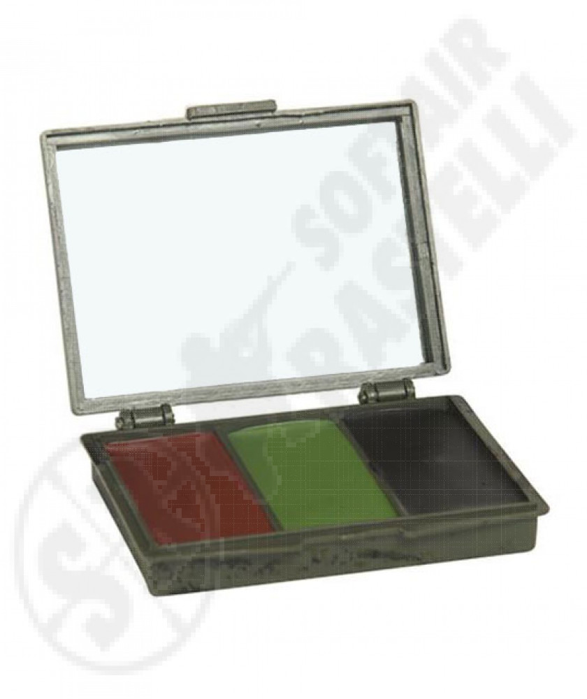Camouflage set in rigid confection with mirror